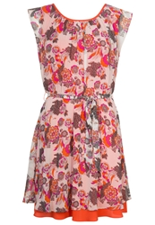 Pepe Jeans Mandy Summer Dress Bright Orange Pink