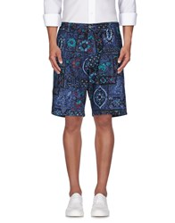Stussy Trousers Bermuda Shorts Men Dark Blue