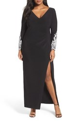 Marina Plus Size Women's Embellished Gown