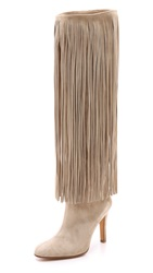 Alexa Wagner Nelli Suede Fringe Boots Nude