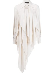 Plein Sud Jeans Long Asymmetric Hem Blouse Nude And Neutrals