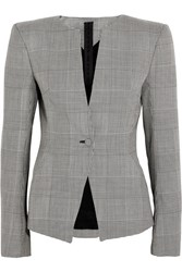 Gareth Pugh Prince Of Wales Checked Wool Blazer Gray