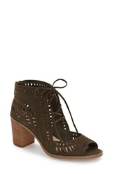 Women's Vince Camuto 'Tarita' Cutout Lace Up Sandal Italian Olive