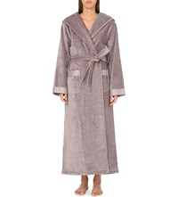 The White Company Hooded Velour Dressing Gown Blossom