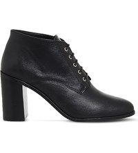 Office Landgirl Leather Lace Up Boot Black Leather