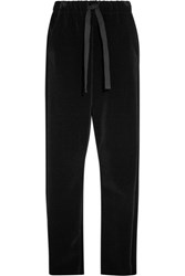 Maison Martin Margiela Mm6 Velvet Wide Leg Pants Black