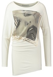 Guess Mirror Long Sleeved Top Milk White
