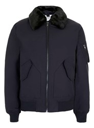 Topman Navy Flight Jacket Blue