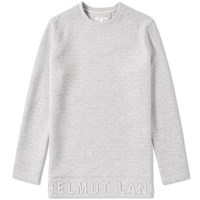 Helmut Lang 3D Logo Crew Sweat Grey