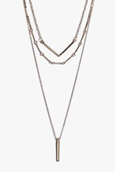 Boohoo Drop Pendant Layered Skinny Necklace Gold