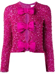 Ashish Sequin Embellished Bow Blouse Pink And Purple
