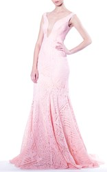 Martha Medeiros The Tassia Lace Dress Light Pink