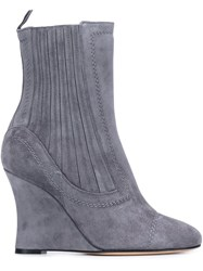 Alchimia Di Ballin Ribbed Wedge Ankle Boots Grey