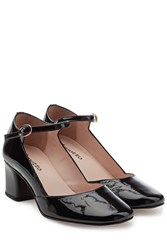 Repetto Patent Leather Mary Jane Pumps Black