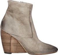 Marsell Women's Suede Wedge Heel Boots Nude Size 5.5