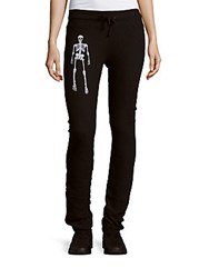 Wildfox Couture Skeleton Skinny Pants Jet Black