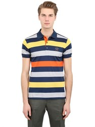 Paul And Shark Striped Cotton Pique Polo