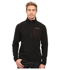 Marmot Rangeley 1 2 Zip Black Men's Long Sleeve Pullover