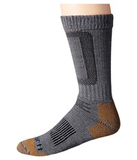 Carhartt Merino Wool Comfort Stretch Steel Toe Socks 1 Pair Pack Heather Gray Men's Crew Cut Socks Shoes