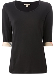 Burberry Brit Long Sleeve T Shirt Black