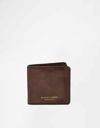 Scotch And Soda Leather Billfold Wallet Brown