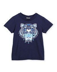 Kenzo Short Sleeve Tiger Jersey Tee Blue Size 6 12 Size 8