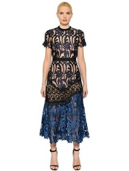 Self Portrait Prairie Patchwork Lace Midi Dress
