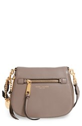 Marc Jacobs 'Small Recruit' Pebbled Leather Crossbody Bag Beige Mink