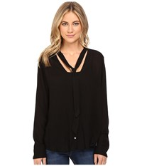 Obey Tompkins Button Down Black Women's Clothing