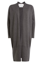 Dkny Merino Wool Cardigan Grey