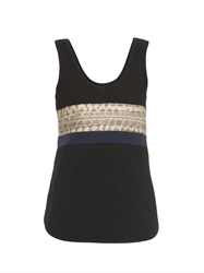 Proenza Schouler Python Panel Knitted Top