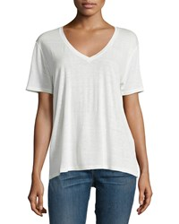 Rag And Bone Rag And Bone Jean Concert Short Sleeve V Neck Tee Natural White Size X Small
