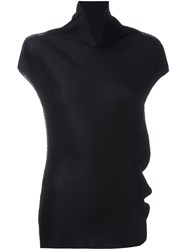 Issey Miyake Cauliflower High Neck T Shirt Black