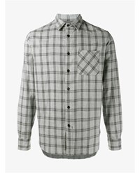 Rag And Bone Beach Check Cotton Shirt Grey Black Denim