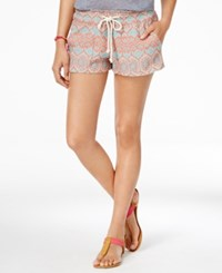 Roxy Juniors' Oceanside Pull On Printed Shorts Natural