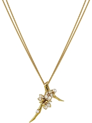 Shaun Leane 'Cherry Blossom' Topaz Long Pendant Necklace Metallic