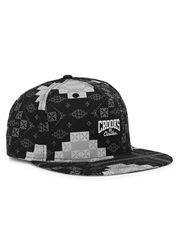 Crooks And Castles Printed Twill Cap Black