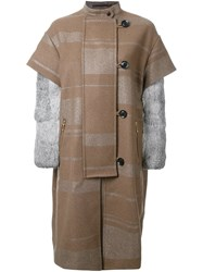 Kolor Single Breasted Coat Brown