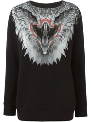 Marcelo Burlon County Of Milan Eagle Print Sweatshirt Black