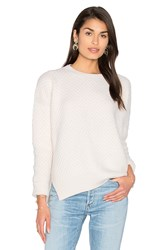 Vince Honeycomb Crew Neck Sweater Cream