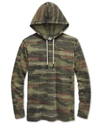 American Rag Men's Textured Print Hoodie Only At Macy's Camo Print