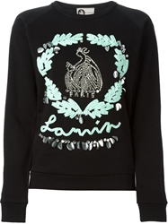Lanvin Embroidered Sweatshirt Black