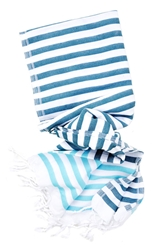 Linen Turkish Tassel Striped Towel Leif