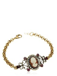 Alcozer And J. Cameo Chain Bracelet