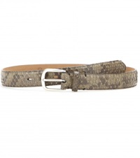 Fausto Colato Snakeskin Belt Brown
