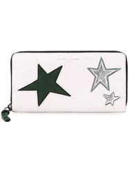 Marc Jacobs 'Star Patchwork' Continental Wallet White