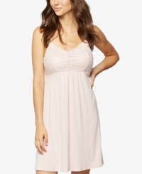 A Pea In The Pod Lace Trim Nursing Nightgown Pink Blush