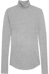 J.Crew Tencel And Cashmere Blend Turtleneck Sweater Gray