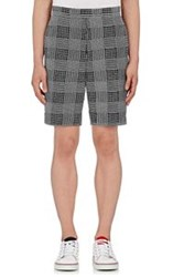 Thom Browne Glen Plaid Embroidered Shorts Multi Size 0 28 Us