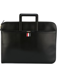 Thom Browne Hidden Handle Briefcase Black
